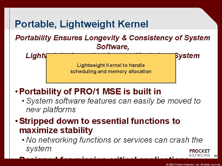Portable, Lightweight Kernel Portability Ensures Longevity & Consistency of System Software, Lightweight Operating System