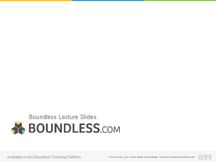 Boundless Lecture Slides Available on the Boundless Teaching Platform Free to share, print, make
