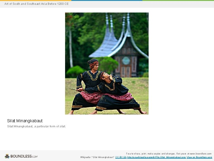 Art of South and Southeast Asia Before 1200 CE Silat Minangkabaut, a particular form