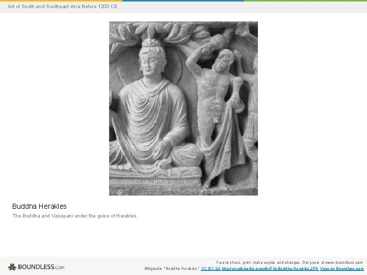Art of South and Southeast Asia Before 1200 CE Buddha Herakles The Buddha and