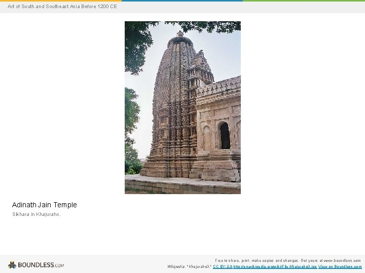 Art of South and Southeast Asia Before 1200 CE Adinath Jain Temple Sikhara in
