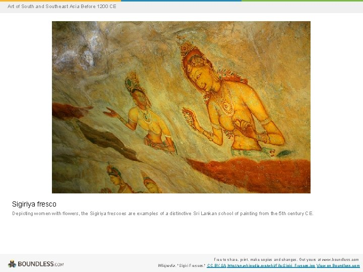 Art of South and Southeast Asia Before 1200 CE Sigiriya fresco Depicting women with