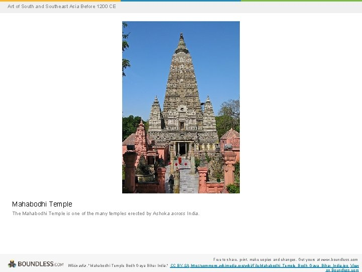 Art of South and Southeast Asia Before 1200 CE Mahabodhi Temple The Mahabodhi Temple
