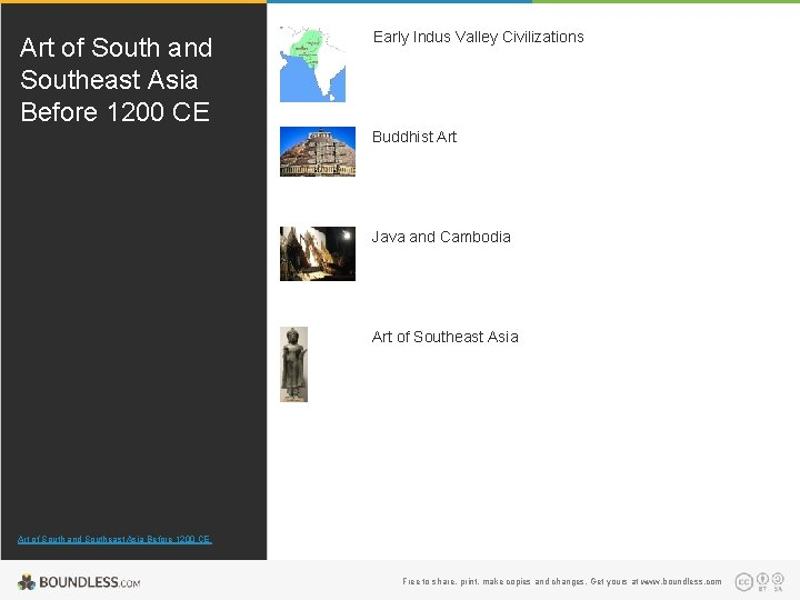 Art of South and Southeast Asia Before 1200 CE Early Indus Valley Civilizations Buddhist