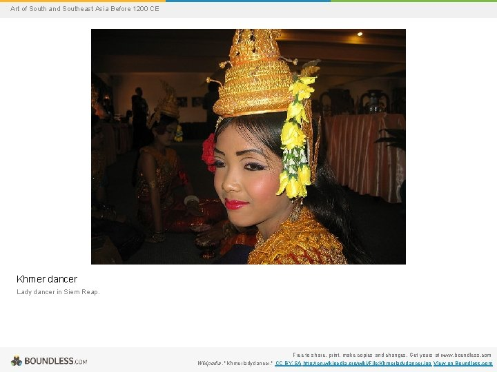 Art of South and Southeast Asia Before 1200 CE Khmer dancer Lady dancer in