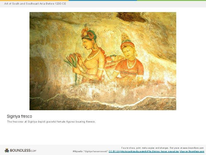 Art of South and Southeast Asia Before 1200 CE Sigiriya fresco The frescoes at