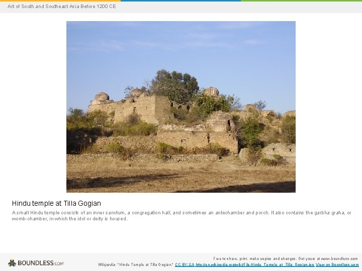 Art of South and Southeast Asia Before 1200 CE Hindu temple at Tilla Gogian