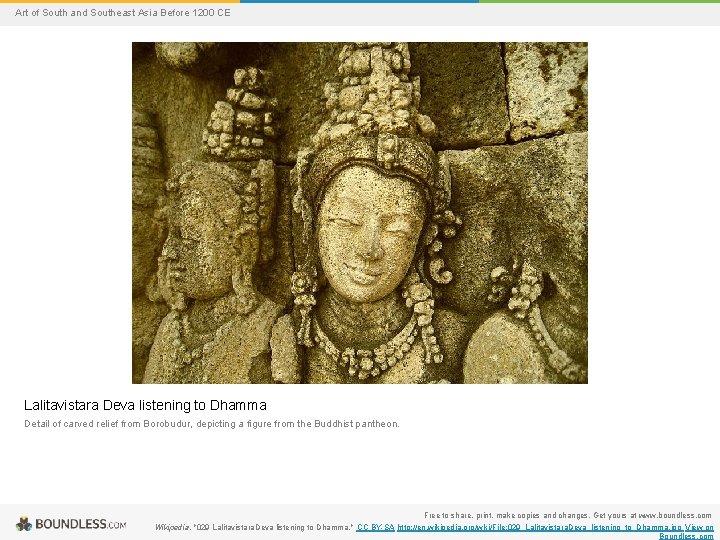 Art of South and Southeast Asia Before 1200 CE Lalitavistara Deva listening to Dhamma