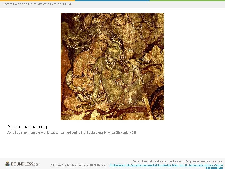 Art of South and Southeast Asia Before 1200 CE Ajanta cave painting A wall