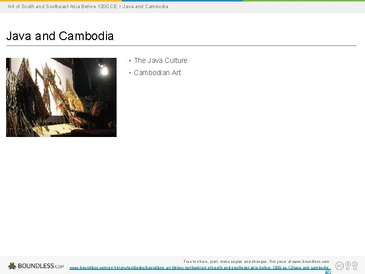 Art of South and Southeast Asia Before 1200 CE > Java and Cambodia •