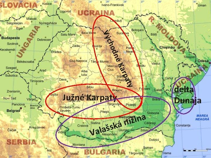 aty p Kar né hod Výc Južné Karpaty š a l a V a