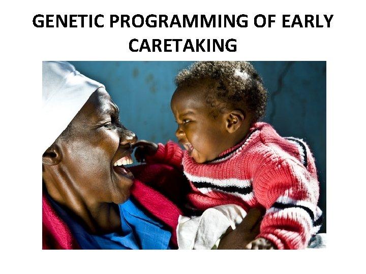 GENETIC PROGRAMMING OF EARLY CARETAKING