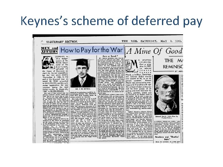 Keynes's scheme of deferred pay 2