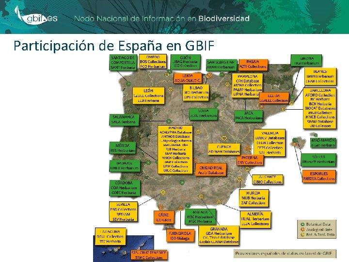 Participación de España en GBIF 18