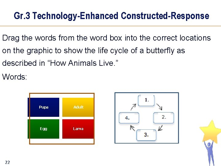 Gr. 3 Technology-Enhanced Constructed-Response Drag the words from the word box into the correct