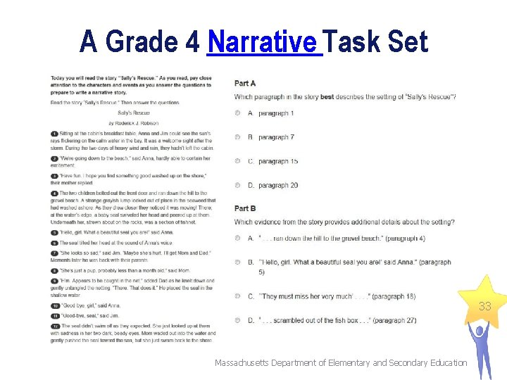 A Grade 4 Narrative Task Set 33 Massachusetts Department of Elementary and Secondary Education