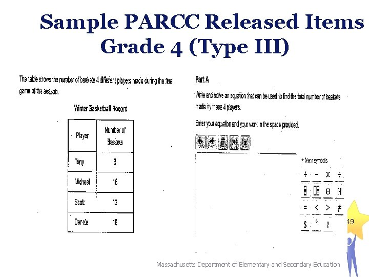 Sample PARCC Released Items Grade 4 (Type III) 49 Massachusetts Department of Elementary and
