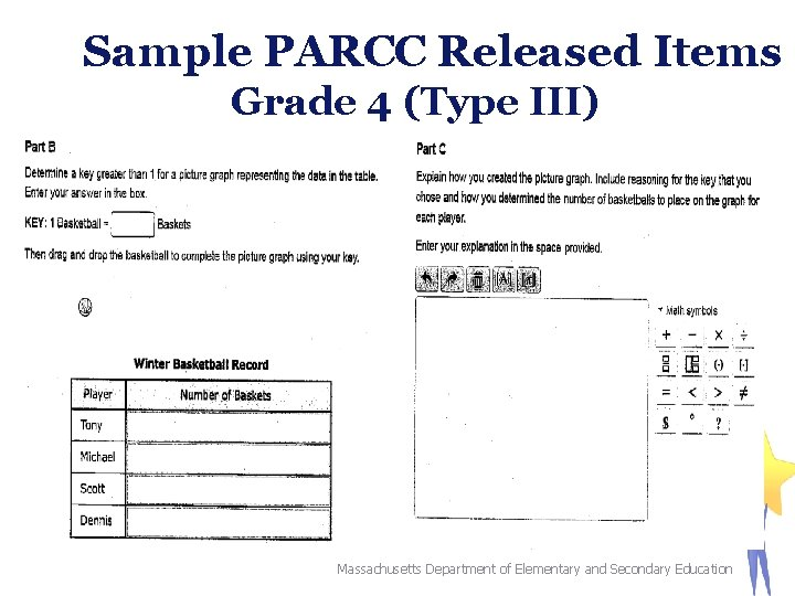 Sample PARCC Released Items Grade 4 (Type III) 50 Massachusetts Department of Elementary and