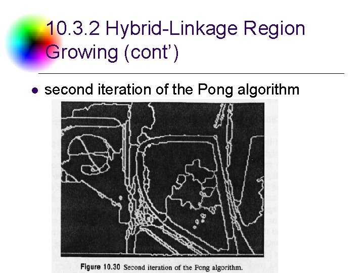 10. 3. 2 Hybrid-Linkage Region Growing (cont') l second iteration of the Pong algorithm