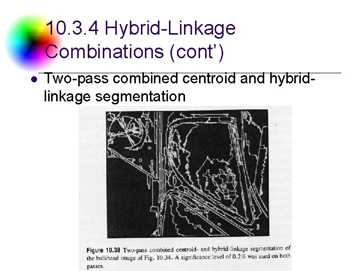 10. 3. 4 Hybrid-Linkage Combinations (cont') l Two-pass combined centroid and hybridlinkage segmentation DC