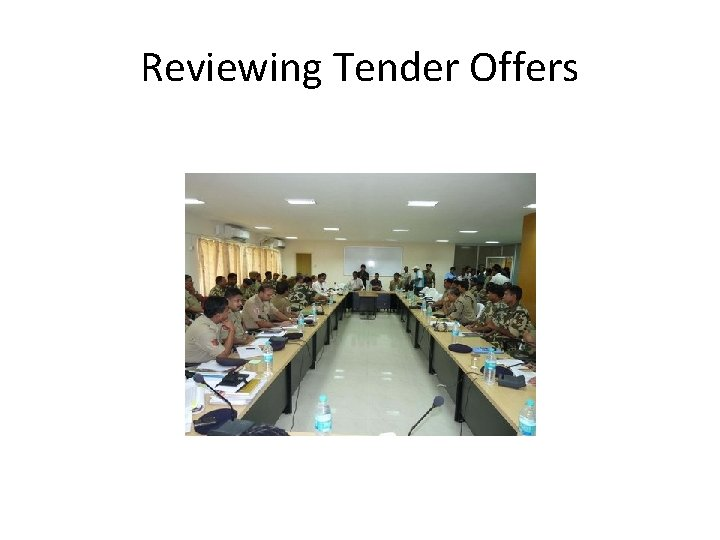 Reviewing Tender Offers