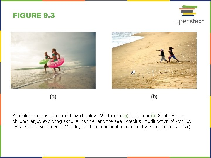 FIGURE 9. 3 All children across the world love to play. Whether in (a)