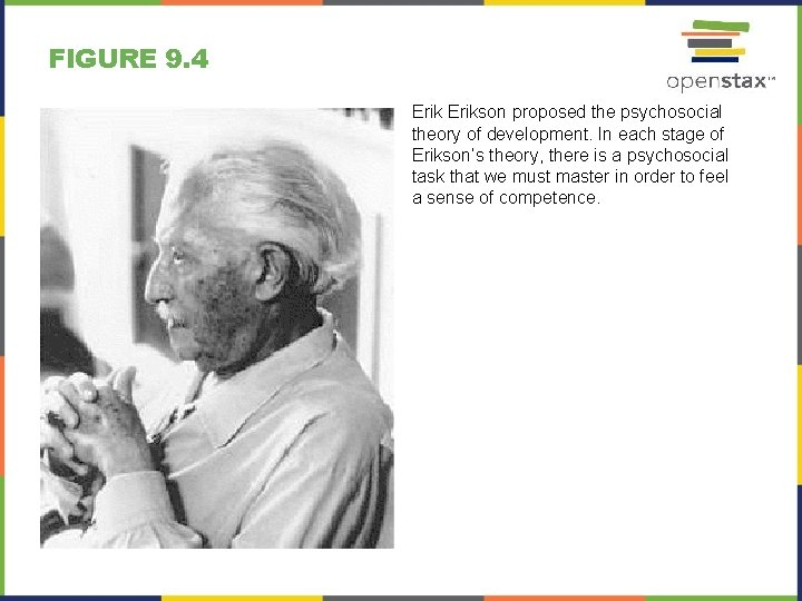 FIGURE 9. 4 Erikson proposed the psychosocial theory of development. In each stage of
