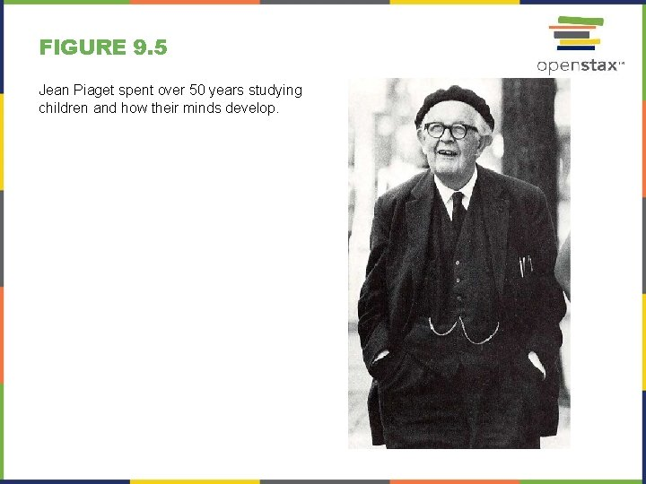 FIGURE 9. 5 Jean Piaget spent over 50 years studying children and how their