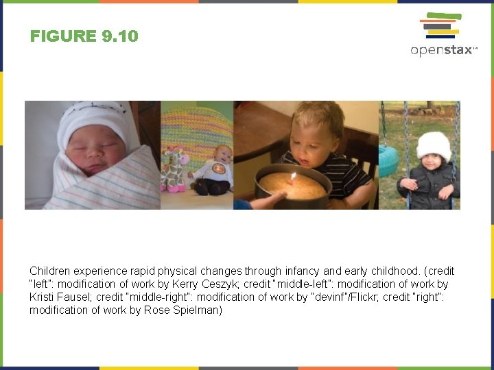 FIGURE 9. 10 Children experience rapid physical changes through infancy and early childhood. (credit