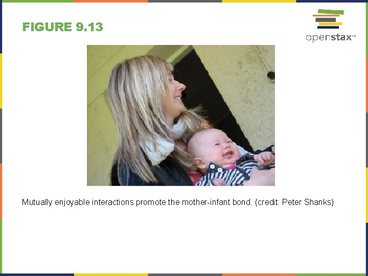 FIGURE 9. 13 Mutually enjoyable interactions promote the mother-infant bond. (credit: Peter Shanks)