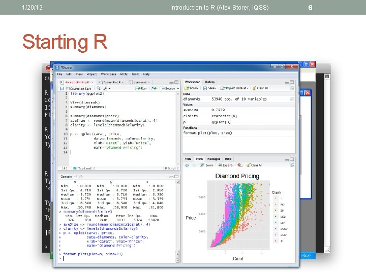 1/20/12 Starting R Introduction to R (Alex Storer, IQSS) 6