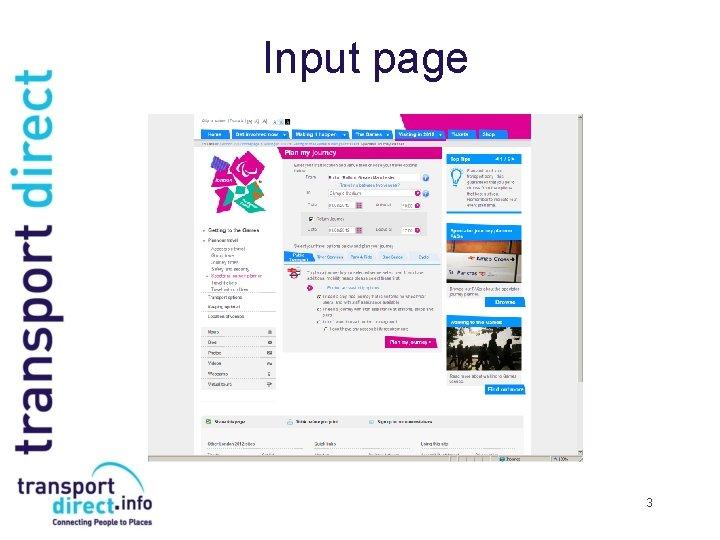Input page 3