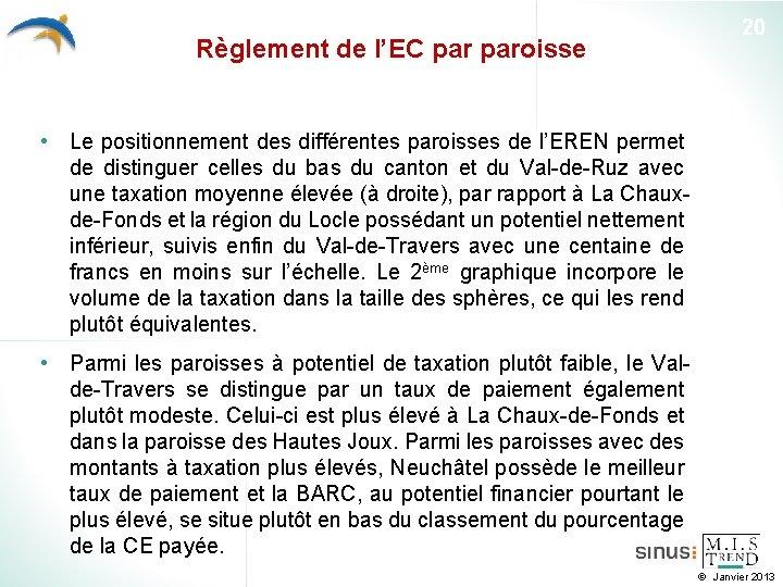 Règlement de l'EC paroisse 20 • Le positionnement des différentes paroisses de l'EREN permet
