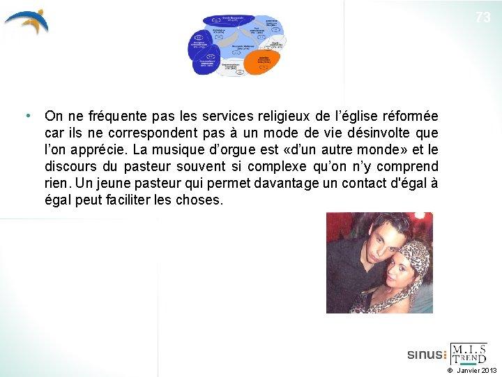 73 • On ne fréquente pas les services religieux de l'église réformée car ils