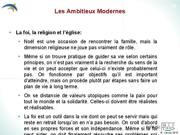 Les Ambitieux Modernes 76 • La foi, la religion et l'église: • Noël est