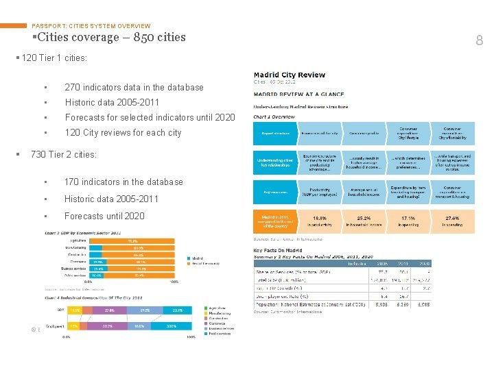 PASSPORT: CITIES SYSTEM OVERVIEW §Cities coverage – 850 cities § 120 Tier 1 cities: