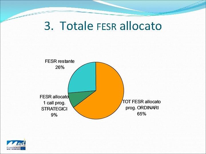 3. Totale FESR allocato