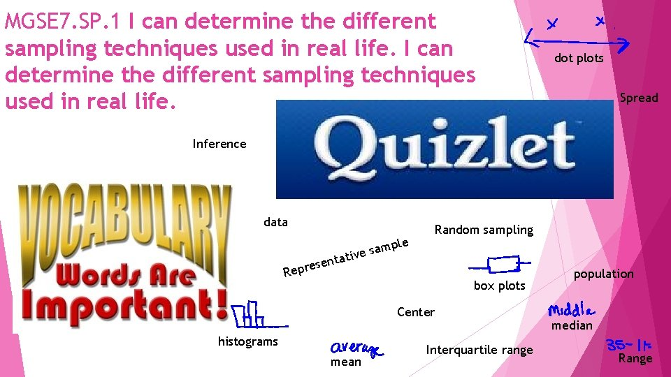MGSE 7. SP. 1 I can determine the different sampling techniques used in real