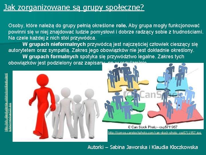 Jak zorganizowane są grupy społeczne? http: //gfx. dlastudenta. pl/photos/dlastudent ki/przywodca 320. jpg Osoby, które