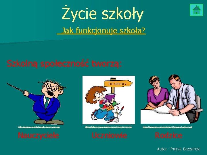 Życie szkoły Jak funkcjonuje szkoła? Szkolną społeczność tworzą: http: //www. rozental. pl/gfx/nauczyciel. gif http: