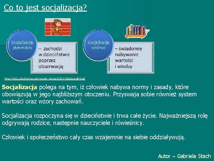 Co to jest socjalizacja? http: //x 02. szkolnictwo. pl/rysunki_lekcje/2801/Clipboard 04. gif Socjalizacja polega na
