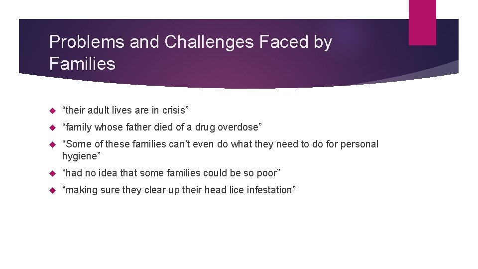"""Problems and Challenges Faced by Families """"their adult lives are in crisis"""" """"family whose"""