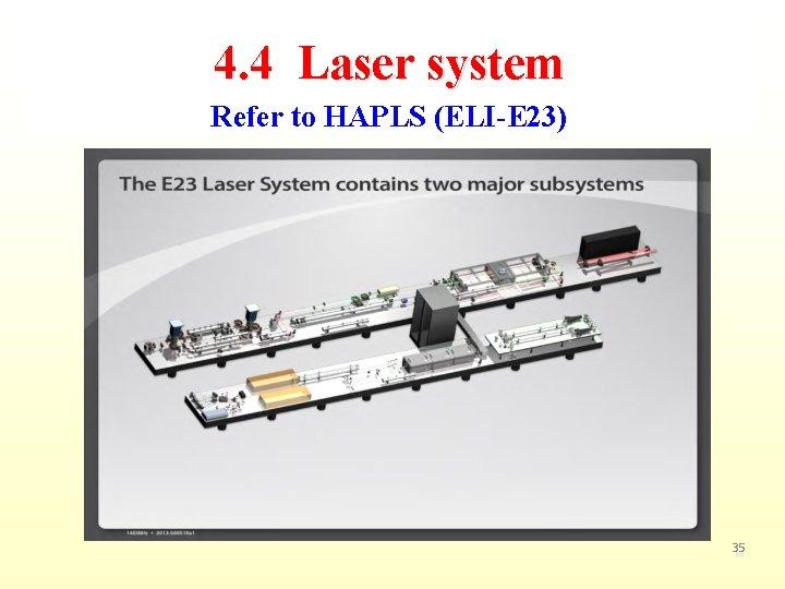 4. 4 Laser system Refer to HAPLS (ELI-E 23) 35 80