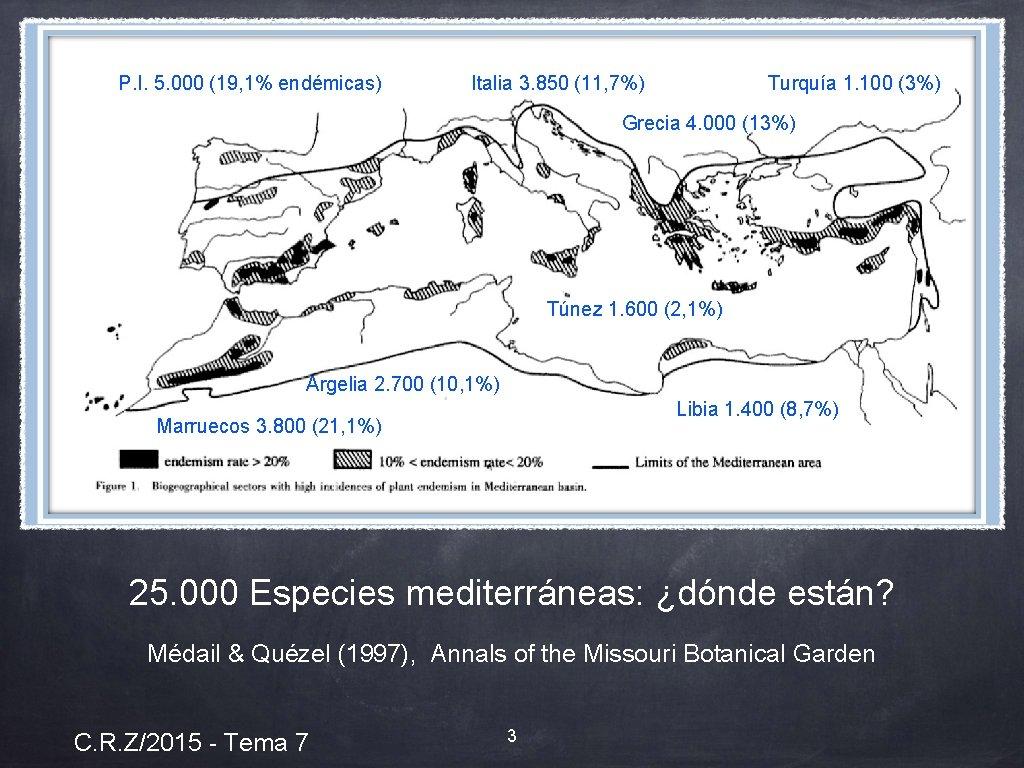 P. I. 5. 000 (19, 1% endémicas) Italia 3. 850 (11, 7%) Turquía 1.