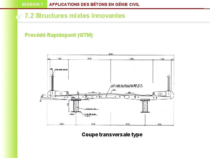 SESSION 7 APPLICATIONS DES BÉTONS EN GÉNIE CIVIL 7. 2 Structures mixtes innovantes Procédé