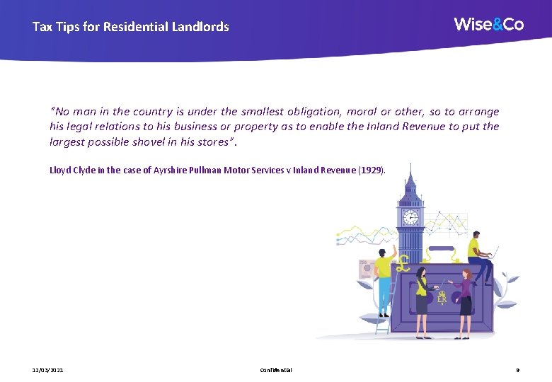 """Tax Tips for Residential Landlords """"No man in the country is under the smallest"""
