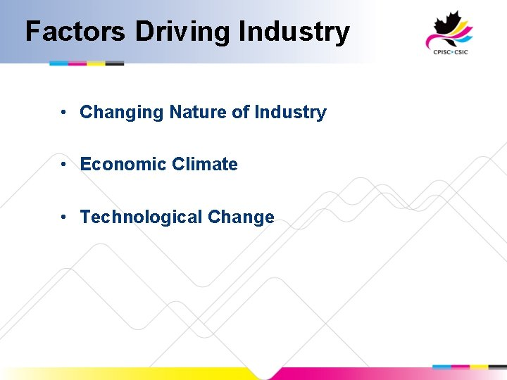 Factors Driving Industry • Changing Nature of Industry • Economic Climate • Technological Change
