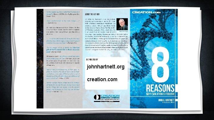 johnhartnett. org creation. com
