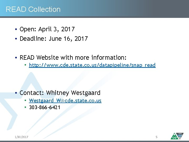 READ Collection • Open: April 3, 2017 • Deadline: June 16, 2017 • READ