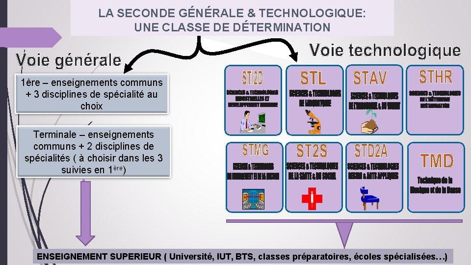 LA SECONDE GÉNÉRALE & TECHNOLOGIQUE: UNE CLASSE DE DÉTERMINATION 1ère – enseignements communs +